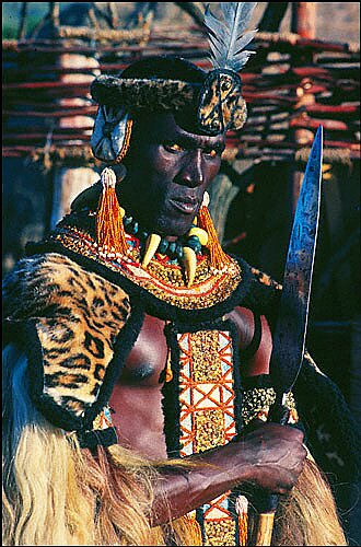 Henry Cele as 'Shaka Zulu' in the the movie released in 1986