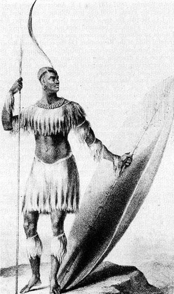 King Shaka kaSenzangakhona ka Jama uZULU! 1824 portrait
